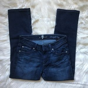 7 for all Mankind Straight Leg Cropped Jeans Sz 26